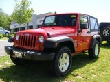 2011 Flame Red Jeep Wrangler Sport S 4x4 #49091030