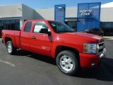 2011 Victory Red Chevrolet Silverado 1500 LT Extended Cab 4x4 #49090706