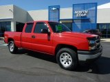 2006 Victory Red Chevrolet Silverado 1500 Work Truck Extended Cab 4x4 #49090712