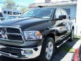 2009 Brilliant Black Crystal Pearl Dodge Ram 1500 SLT Crew Cab 4x4 #49091089