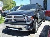 2009 Brilliant Black Crystal Pearl Dodge Ram 1500 Big Horn Edition Crew Cab 4x4 #49091090