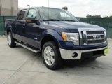 2011 Dark Blue Pearl Metallic Ford F150 Lariat SuperCrew 4x4 #49135826