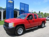 2009 Victory Red Chevrolet Silverado 1500 Extended Cab 4x4 #49135681