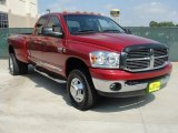 2009 Inferno Red Crystal Pearl Dodge Ram 3500 SLT Quad Cab 4x4 Dually #49135846