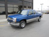 2003 Arrival Blue Metallic Chevrolet Silverado 1500 LS Extended Cab 4x4 #49136067