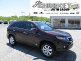 2011 Dark Cherry Kia Sorento LX AWD #49135981