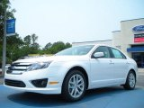 2011 White Platinum Tri-Coat Ford Fusion SEL #49195043