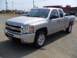 2011 Sheer Silver Metallic Chevrolet Silverado 1500 LT Extended Cab 4x4 #49195526