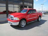 2009 Flame Red Dodge Ram 1500 Big Horn Edition Crew Cab 4x4 #49195423