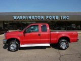 2002 Red Clearcoat Ford F250 Super Duty XLT SuperCab 4x4 #49195272