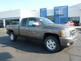2011 Mocha Steel Metallic Chevrolet Silverado 1500 LT Extended Cab 4x4 #49195133