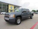 2008 Blue Granite Metallic Chevrolet Silverado 1500 LS Crew Cab #49195307
