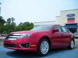 2011 Red Candy Metallic Ford Fusion Hybrid #49195042