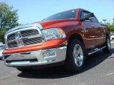 2009 Sunburst Orange Pearl Dodge Ram 1500 Big Horn Edition Crew Cab #49244699