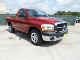 2006 Inferno Red Crystal Pearl Dodge Ram 1500 ST Regular Cab #49244846