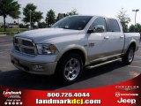 2011 Bright White Dodge Ram 1500 Laramie Longhorn Crew Cab 4x4 #49244764