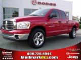2007 Flame Red Dodge Ram 1500 SLT Quad Cab #49244775
