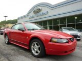 2003 Torch Red Ford Mustang V6 Convertible #49244807