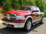 2011 Deep Cherry Red Crystal Pearl Dodge Ram 1500 Laramie Crew Cab 4x4 #49245138