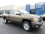 2011 Mocha Steel Metallic Chevrolet Silverado 1500 LT Extended Cab 4x4 #49300045