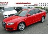 2008 Brilliant Red Audi A4 2.0T quattro S-Line Sedan #49300272