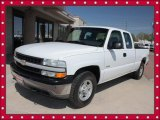 2001 Summit White Chevrolet Silverado 1500 LS Extended Cab 4x4 #49300086