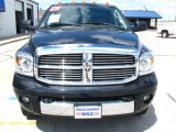 2009 Brilliant Black Crystal Pearl Dodge Ram 3500 Laramie Quad Cab 4x4 Dually #49300386