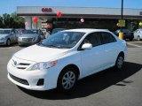 2011 Super White Toyota Corolla LE #49300201