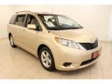 2011 Sandy Beach Metallic Toyota Sienna LE #49300413