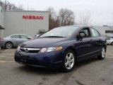 2007 Royal Blue Pearl Honda Civic EX Sedan #4927193