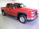 2006 Victory Red Chevrolet Silverado 1500 Z71 Crew Cab 4x4 #49390620