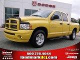 2005 Solar Yellow Dodge Ram 1500 SLT Quad Cab #49390463