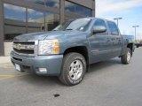 2007 Blue Granite Metallic Chevrolet Silverado 1500 LTZ Crew Cab 4x4 #49390649