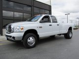 2008 Bright White Dodge Ram 3500 Big Horn Edition Quad Cab 4x4 Dually #49390650