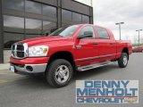2008 Flame Red Dodge Ram 3500 SLT Mega Cab 4x4 #49390651
