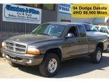 2004 Graphite Metallic Dodge Dakota Sport Club Cab 4x4 #49390508
