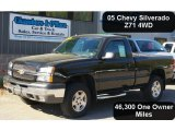 2005 Black Chevrolet Silverado 1500 Z71 Regular Cab 4x4 #49390509
