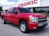 2009 Victory Red Chevrolet Silverado 1500 LT Extended Cab 4x4 #49418300