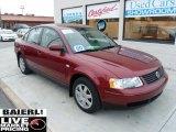 2000 Colorado Red Metallic Volkswagen Passat GLS V6 Sedan #49417999