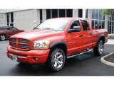 2006 Flame Red Dodge Ram 1500 Sport Quad Cab 4x4 #49418549