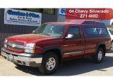2004 Sport Red Metallic Chevrolet Silverado 1500 Z71 Regular Cab 4x4 #49469315