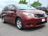 2011 Salsa Red Pearl Toyota Sienna LE #49469115