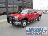2005 Victory Red Chevrolet Silverado 1500 Z71 Crew Cab 4x4 #49469539
