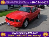 2005 Torch Red Ford Mustang V6 Deluxe Coupe #49514383
