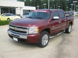 2009 Deep Ruby Red Metallic Chevrolet Silverado 1500 LT Texas Edition Extended Cab #49514924