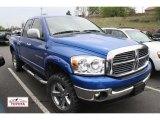 2007 Electric Blue Pearl Dodge Ram 1500 SLT Quad Cab 4x4 #49514425