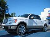 2011 White Platinum Metallic Tri-Coat Ford F150 Lariat SuperCrew #49514608