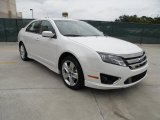 2011 White Platinum Tri-Coat Ford Fusion Sport #49514796