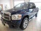 2008 Patriot Blue Pearl Dodge Ram 1500 Laramie Quad Cab 4x4 #49515183