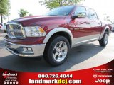 2011 Deep Cherry Red Crystal Pearl Dodge Ram 1500 Laramie Crew Cab #49514693